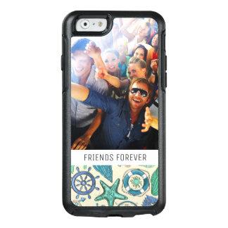 Coque OtterBox iPhone 6/6s Motif turquoise | d'animaux de mer votre photo et