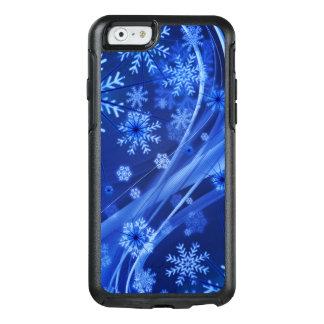 Coque OtterBox iPhone 6/6s Noël bleu de flocons de neige d'hiver