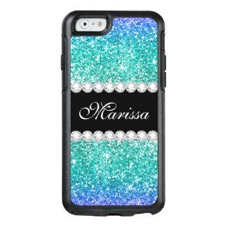 Coque OtterBox iPhone 6/6s Noir élégant turquoise d'Ombre de parties