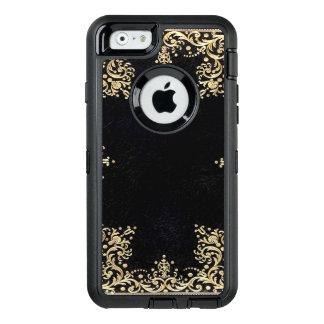 Coque OtterBox iPhone 6/6s Noir et or de Falln en filigrane