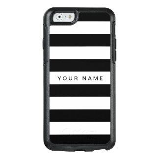 Coque OtterBox iPhone 6/6s Noir personnalisé et blanc barrés