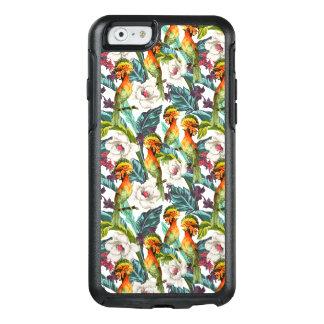 Coque OtterBox iPhone 6/6s Oiseau et motif de fleur exotique