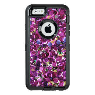 Coque OtterBox iPhone 6/6s Paillettes roses magenta Girly de Faux