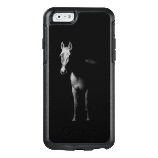 Coque OtterBox iPhone 6/6s Photo noire et blanche de cheval