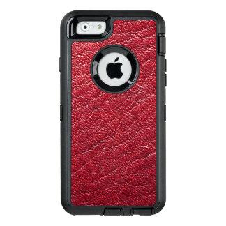 Coque OtterBox iPhone 6/6s Professionnel rouge de cuir de Faux