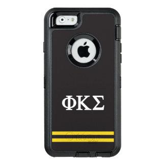 Coque OtterBox iPhone 6/6s Rayure de sport du sigma   de Kappa de phi