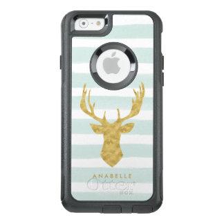 Coque OtterBox iPhone 6/6s Rayures d'aquarelle et cerfs communs en bon état