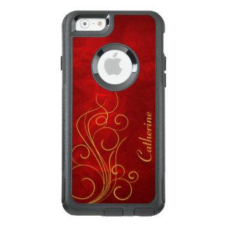 Coque OtterBox iPhone 6/6s Remous élégant d'or rouge
