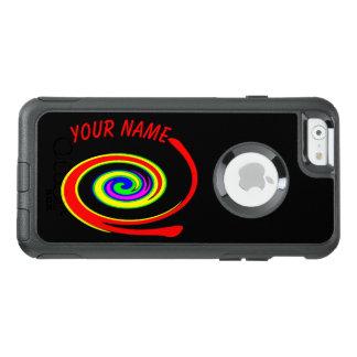 Coque OtterBox iPhone 6/6s Remous multicolore. Ajoutez votre texte