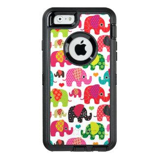 Coque OtterBox iPhone 6/6s rétro papier peint de motif d'enfants d'éléphant