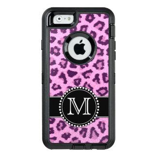 Coque OtterBox iPhone 6/6s Rose, pourpre, défenseur décoré d'un monogramme de