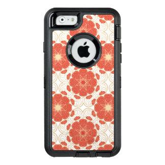 Coque OtterBox iPhone 6/6s Rouge et motif floral de dentelle d'or