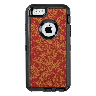 Coque OtterBox iPhone 6/6s Rouge et motif floral d'or