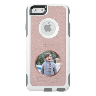 Coque OtterBox iPhone 6/6s Téléchargement rose de photo de monogramme d'or de