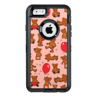 Coque OtterBox iPhone 6/6s Texture avec le nounours, coeurs