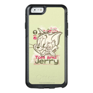 Coque OtterBox iPhone 6/6s Tom et rose et vert de Jerry