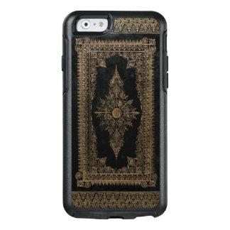 Coque OtterBox iPhone 6/6s Vieux cuir noir et or rose