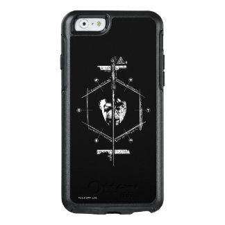 Coque OtterBox iPhone 6/6s Voldemort Harry Potter font face au graphique