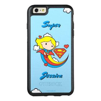 Coque OtterBox iPhone 6 Et 6s Plus Arc-en-ciel de vol de Chibi Supergirl