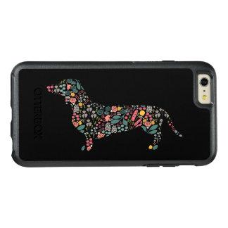 Coque OtterBox iPhone 6 Et 6s Plus Art floral d'aquarelle de motif de chien de