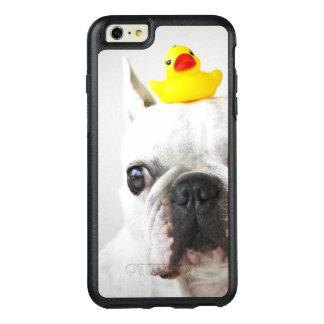 Coque OtterBox iPhone 6 Et 6s Plus Bouledogue français avec le canard en caoutchouc