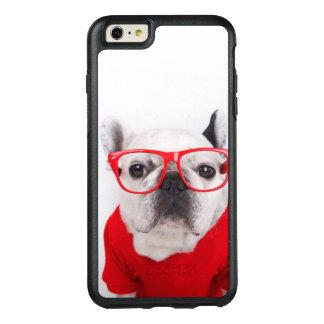 Coque OtterBox iPhone 6 Et 6s Plus Bouledogue français avec les verres et la chemise