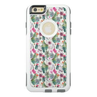 Coque OtterBox iPhone 6 Et 6s Plus Cactus exotique d'aquarelle de Boho et motif