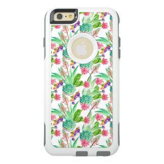 Coque OtterBox iPhone 6 Et 6s Plus Cactus lumineux d'aquarelle et motif succulent