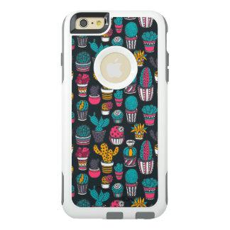 Coque OtterBox iPhone 6 Et 6s Plus Cactus tiré par la main dans le motif de style de