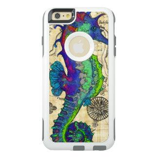 Coque OtterBox iPhone 6 Et 6s Plus Carte comique vintage d'hippocampe