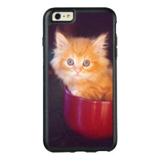 Coque OtterBox iPhone 6 Et 6s Plus Chaton orange dans une tasse rouge