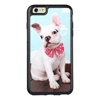 Coque OtterBox iPhone 6 Et 6s Plus Chiot de bouledogue français avec l'arc rose