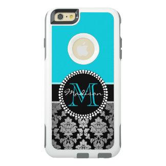Coque OtterBox iPhone 6 Et 6s Plus Damassé noire de gris argenté, bleu turquoise