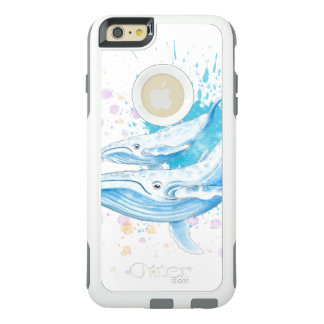 Coque OtterBox iPhone 6 Et 6s Plus Éclaboussure de couleur de baleines bleues