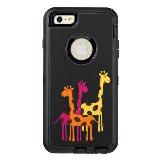 Coque OtterBox iPhone 6 Et 6s Plus Girafes jaunes, roses et oranges mignonnes
