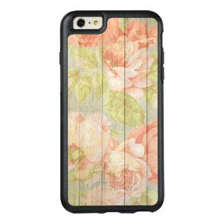 Coque OtterBox iPhone 6 Et 6s Plus Grain en bois floral chic minable