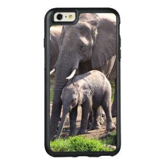 Coque OtterBox iPhone 6 Et 6s Plus Jeune éléphant africain avec le bébé