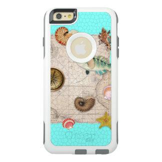 Coque OtterBox iPhone 6 Et 6s Plus La marine prise la carte vintage beige Teal