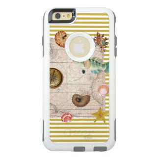 Coque OtterBox iPhone 6 Et 6s Plus La marine prise les rayures jaunes de moutarde