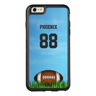 Coque OtterBox iPhone 6 Et 6s Plus Le football sur le nom et le nombre de ciel bleu