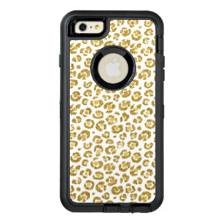 Coque OtterBox iPhone 6 Et 6s Plus Léopard scintillant d'or de Faux fascinant
