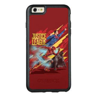 Coque OtterBox iPhone 6 Et 6s Plus Ligue de justice   Superman, éclair, et insigne de