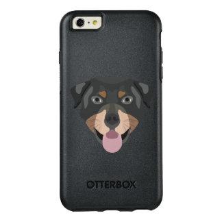 Coque OtterBox iPhone 6 Et 6s Plus L'illustration poursuit le rottweiler de visage