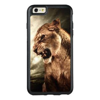 Coque OtterBox iPhone 6 Et 6s Plus Lionne d'hurlement contre le ciel orageux