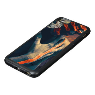 Coque OtterBox iPhone 6 Et 6s Plus Madame peinte du coucher du soleil de désert
