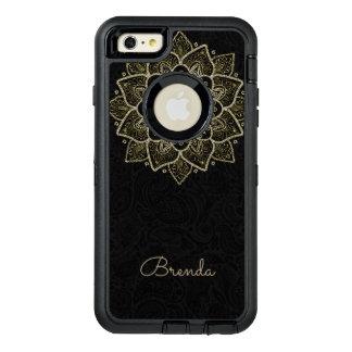 Coque OtterBox iPhone 6 Et 6s Plus Mandala et monogramme de scintillement d'or