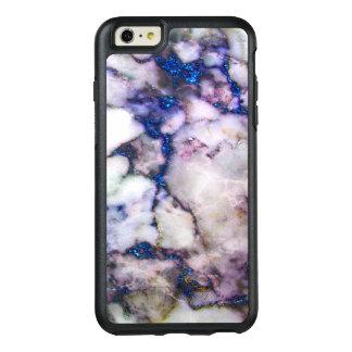 Coque OtterBox iPhone 6 Et 6s Plus Marbre blanc élégant avec le rose et le bleu