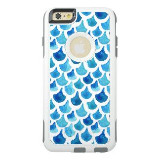 Coque OtterBox iPhone 6 Et 6s Plus Motif bleu d'échelle d'aquarelle