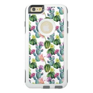 Coque OtterBox iPhone 6 Et 6s Plus Motif d'art de cactus d'aquarelle