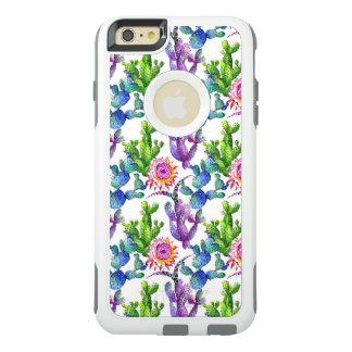 Coque OtterBox iPhone 6 Et 6s Plus Motif de cactus de fleur sauvage d'aquarelle